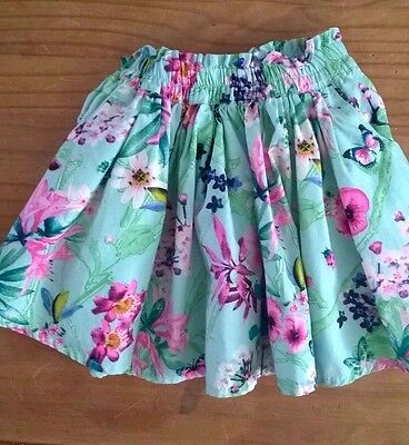 Next Green Floral Print Skirt Baby Girls 6-9 months