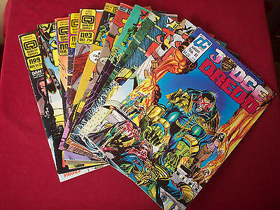 Judge Dredd Eagle / Quality Comic x 12 Good As Seen See All Photos 2000AD