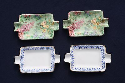 4 Small China ashtrays