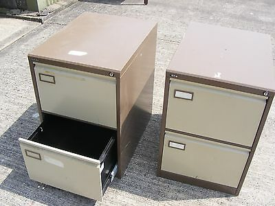 2X OLD 2 Drawer Metal FILING Cabinet ... used
