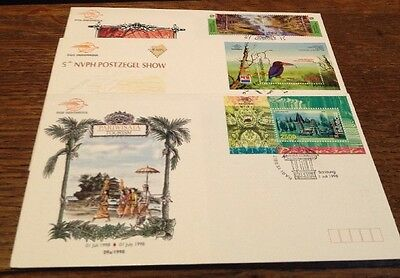 Indonesia Three FDC 1998 Stamp show/ Environment/ Tourism
