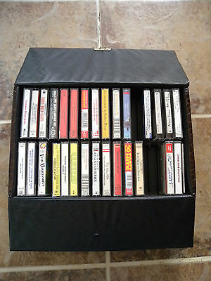 Excellent Music Cassette Case & Collection Of Easy Listening Cassettes