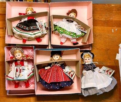 madame alexander Friends from Foreign Lands Dolls. 5 total countries represented