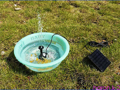Solar Power Water Pump Panel Submersible Fountain Pond Kit Garden Pool Water FT6
