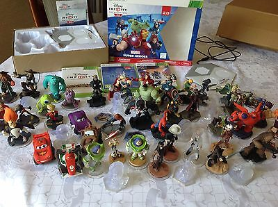 DISNEY INFINITY 1 2.0 3.0 Xbox 360 bundle 51 figures set pieces  + 2 play pads
