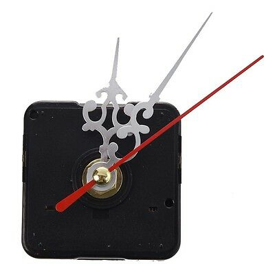 Clock Movement Mechanism with Silver Hour Minute Second Hand DIY Tools Kit B1C4