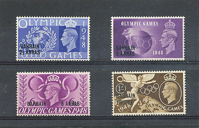 Bahrain KGVI 1948 Olympic Games Issue SG63-66 MM