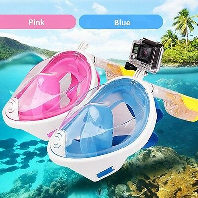 Full Face Snorkeling Mask Gopro Scuba Diving