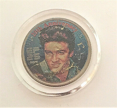 Elvis Authentic Certificate Colorized 2002 Tennessee Quarter
