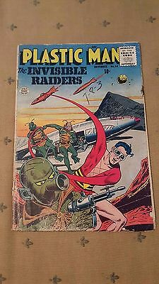 Plastic Man (1943 Vital/Quality) #64 GD The Invisible Raiders Golden Age Comic!