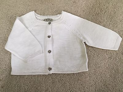 Girls Next White Cropped Cardigan 12-18 Months - Excellent Condition