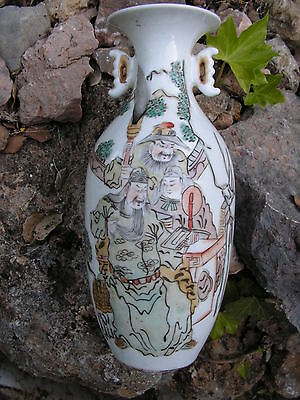 Vase  Decor Samourais   Chine 19°