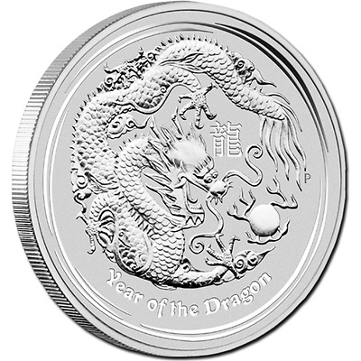 2012 Lunar Year of The Dragon - 1 Kilo Silver Coin .999
