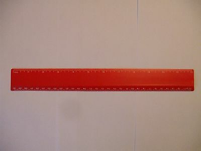 12 Inch/30 Cms Rulers Top Quality 20 Red Rulers
