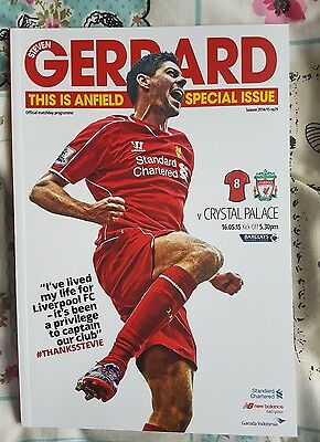 LIVERPOOL V CRYSTAL PALACE  STEVEN GERRARD LAST HOME GAME Mint Condition
