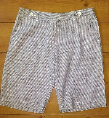 Ladies MARKS & SPENCER LINEN MIX SHORTS 14 Summer Holiday beach