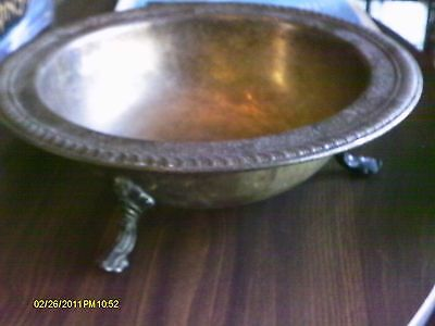 Vintage FB Rogers Silver Co. Footed Serving BOWL Trademark 1883 -FANTASTIC