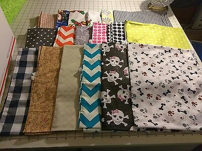 30  Daycare cot sheets assorted prints 18 - 52 x 22  and 12 40x22  Box C+