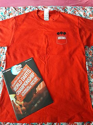 world darts programme and official  tshirt