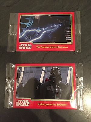Star Wars Topps Trading Cards New - 2 Packets