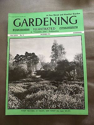 "Dec 1951 Gardening Illustrated ""a Fine Shrub & Heather Garden"" Magazine"