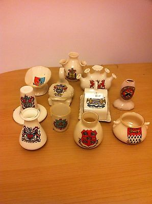 11 Pieces Of Crested China - Various Crests- Goss/arcadian Etc - Lot 2