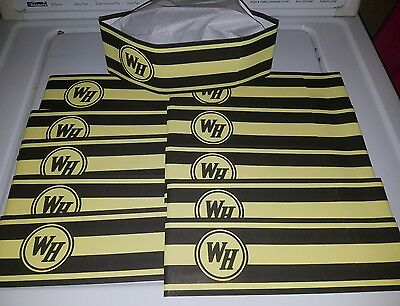 Waffle House Grill Operators Adjustable Paper Hats Brand New From Box -LOT (10)