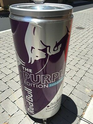 Red Bull Energy Drink Cooler Rolling Fridge - Acal Berry Purple Edition Man Cave