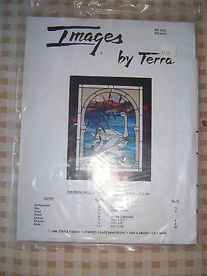 "STAINED GLASS PATTERN: SWANS ""Images by Terra"" ***FREE SHIPPING***"