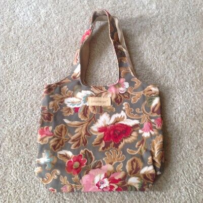 Longaberger Small Grocery Tote, new in bag-Lovely Mojolic Garden (basket people)