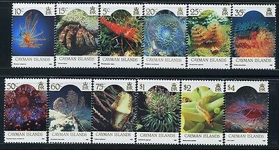 CAYMAN Is. GB, SC562~73 (12) CplSet, 1986 E2R Def. to $4 Marine Life. MNH-$36