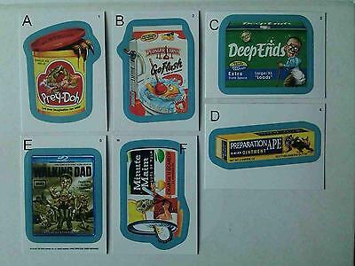 Wacky Packages ANS 11 Blue Border 15 Parallel Variation A Sticker Cards LOT
