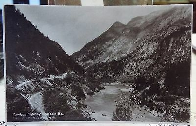 antique Postcard Real Photo Cariboo Highway near Yale BC by L Frank