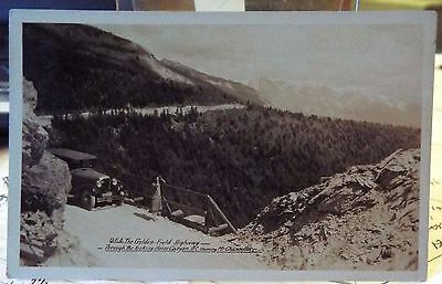 antique Postcard Real Photo Golden - Field Hwy Kicking Horse Canyon