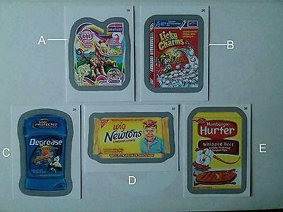 Wacky Packages ANS 11 Silver Border 5 Parallel Variation A Sticker Cards LOT