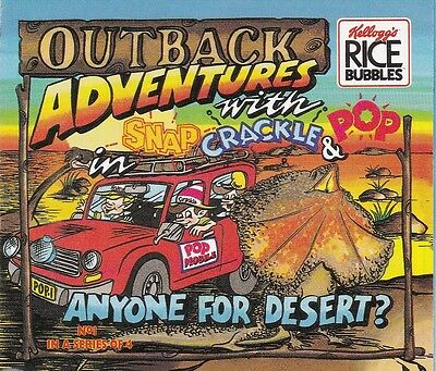 Kelloggs Rice Bubbles - Outback Adventures 4 fold out cards (full series)