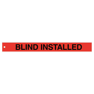 BRADY Polyester Isolation Blind Tags,2in.Hx20in.W,PK25, 132453