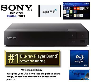 SONY Blu-Ray Player BDP-S1700 Streaming, PS3 games, Quick Launch retail-$79.99