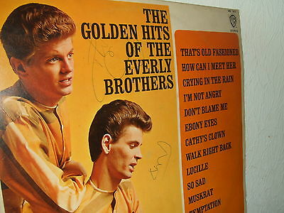 Everly Brothers Autographed Album