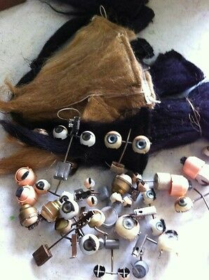 antique doll eyes and mohair
