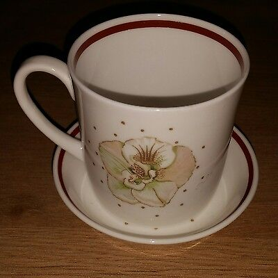 Susie Cooper. Coffee cup and saucer. Azalea.