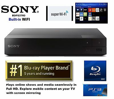 SONY BDP-S3700 Blu-ray Disc™ Player with built in Wi-Fi® retail-$109.99