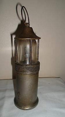 Antique Early 1900's Battery Miners Safety Lamp