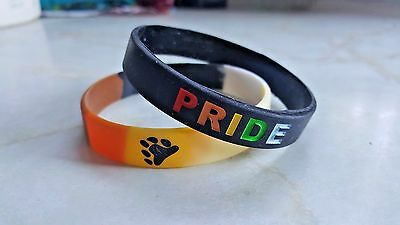 Gay. PRIDE, Bear or Born This Way silicone wristband 2-4-1 offer. FREE postage.