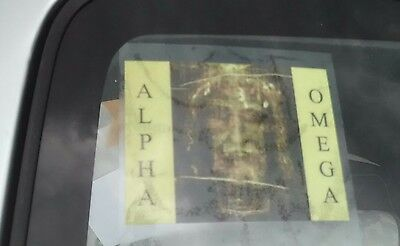 Decal car or window holy image Jesus Holy Shroud Face protection
