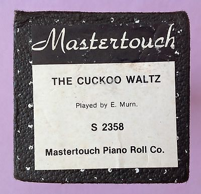 Pianola Roll - THE CUCKOO WALTZ  - MASTERTOUCH - 88 note piano roll