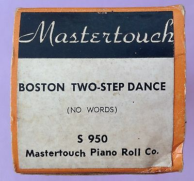 Pianola Roll -- BOSTON TWO-STEP DANCE  -  Mastertouch   88 note piano roll