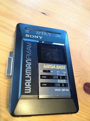Sony Walkman WM-BF44 Stereo Radio Cassette player With Mega Bass With Clip