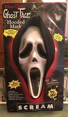 RARE 1997 AUTHENTIC Original Fun World Div SCREAM Ghostface Fiber Optic Mask
