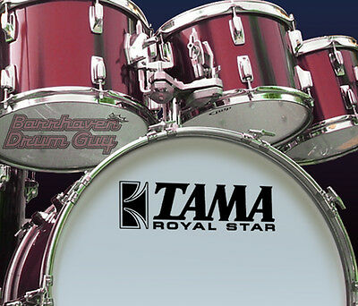 Tama Royal Star, 70s Vintage, Repro Logo - Adhesive Vinyl Decal, for Bass Drum